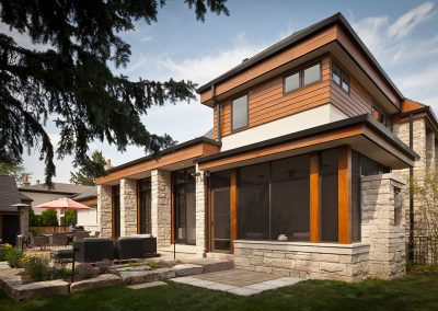 Modern new build home with sunroom