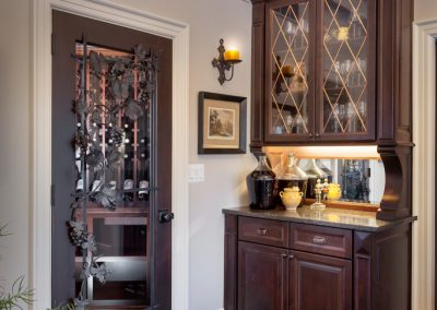 Petrucci Homes custom cabinetry bar