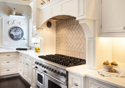 Transitional wite kitchen