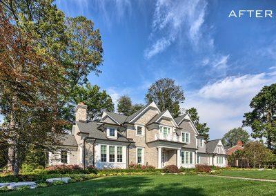 Traditional home renovation exterior