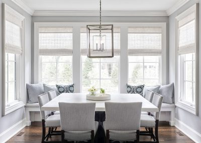 Kitchen nook with banquette