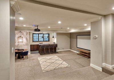 Renovation with basement addition