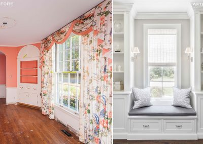 before and after traditional home renovation